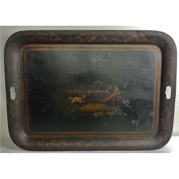 American Abolition 1860's Tole Painted Tray
