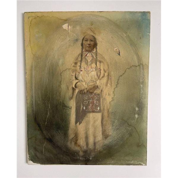 Hand Tinted Photo Umatilla Indian Woman