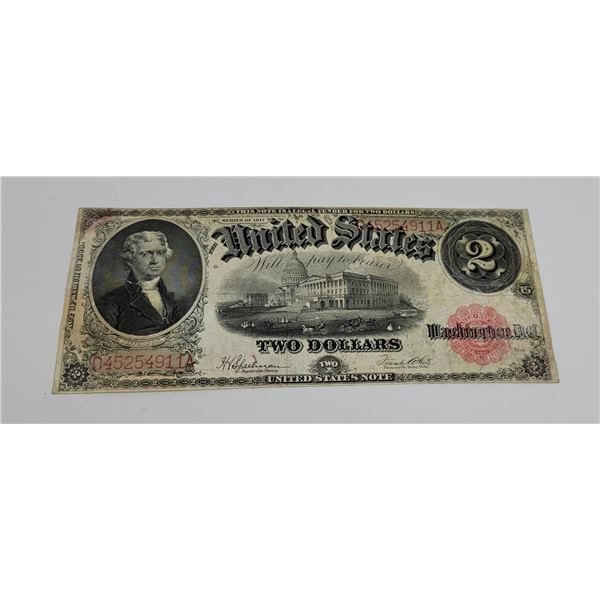 1917 $2 Bill Red Seal Jefferson