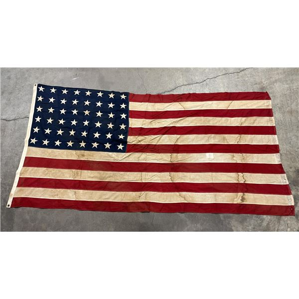 Very Nice WW2 WWII Stained Field Used 48 Star Flag