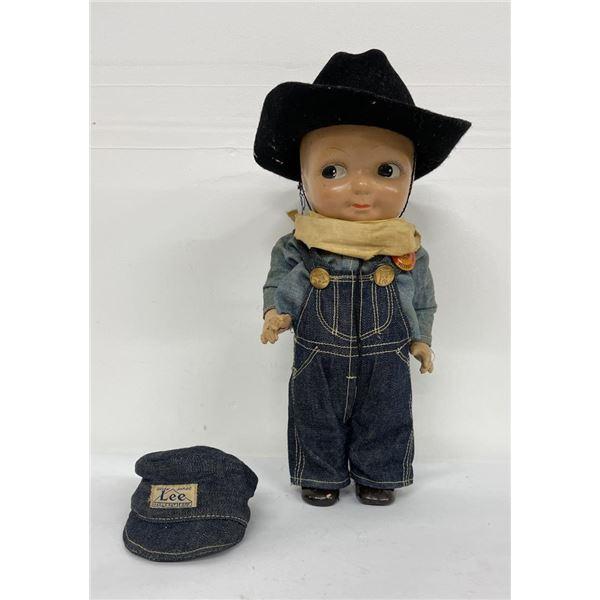 Antique Buddy Lee Denim Advertising Doll