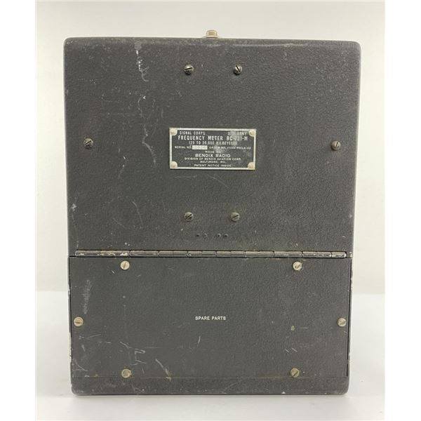 WW2 US Army Signal Corps Frequency Meter Bendix
