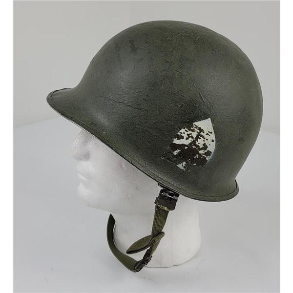 WW2 US Army M1 Helmet 101st Spade Front Seam
