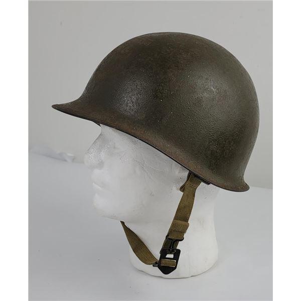 WW2 US Army M1 Helmet Rear Seam