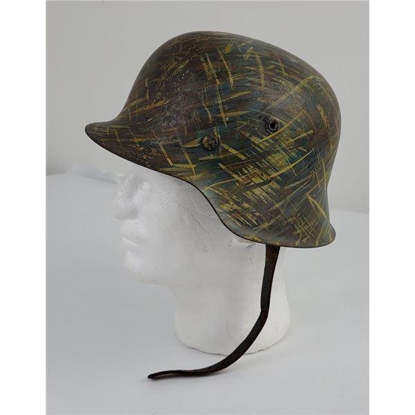 WW2 M42 Nazi German Field Camouflaged Heer Helmet
