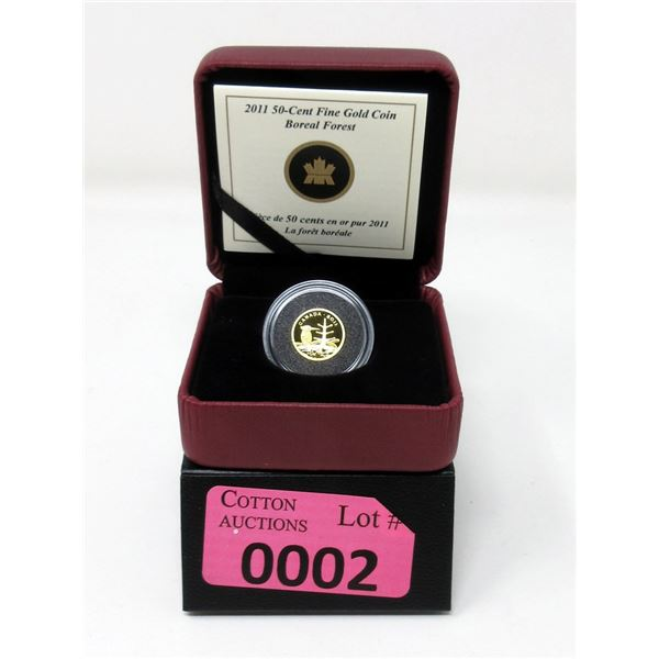 1/25Oz. 2011 Boreal Forest .9999 Gold Coin