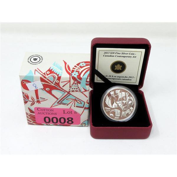 2013 Canada Fine Silver Carlito Dalceggio Art Coin