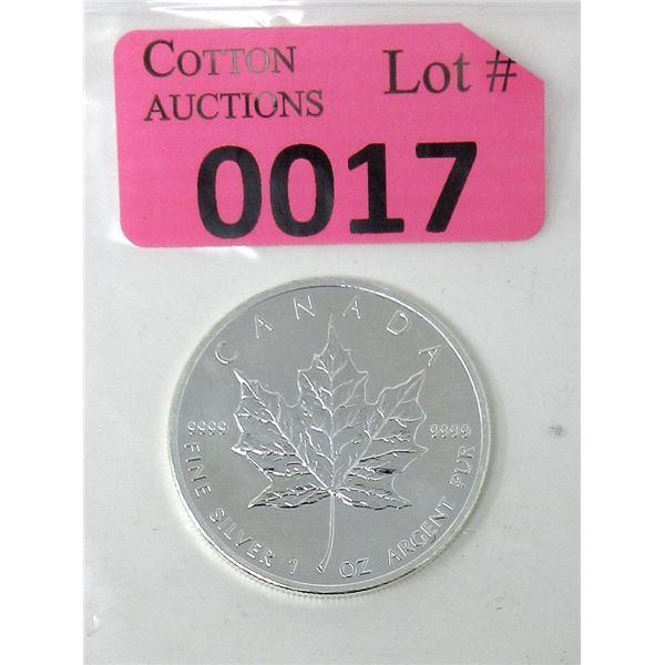 1 Oz. Canada .9999 Silver 2013 Maple Leaf Coin