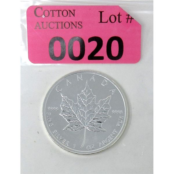 1 Oz. Canada .9999 Silver 2011 Maple Leaf Coin