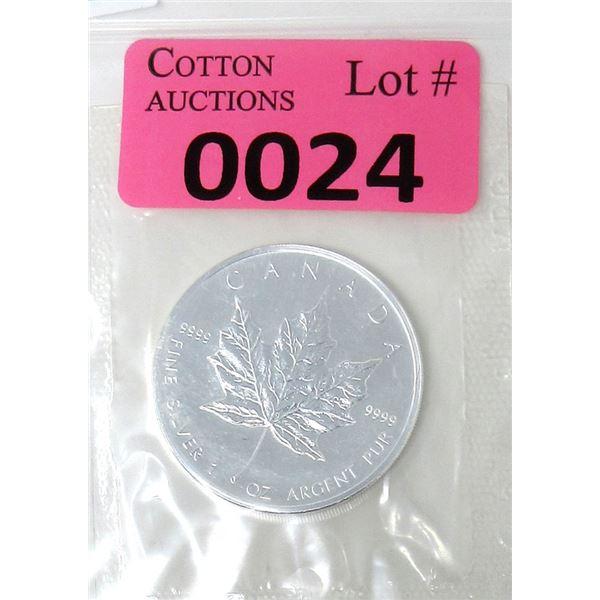 1 Oz .9999 Fine Silver 2006 Canada Maple Leaf Coin