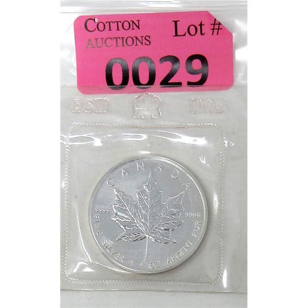 1 Oz .9999 Fine Silver 1989 Canada Maple Leaf Coin