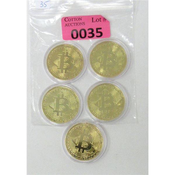 5 Copper 2013 Bitcoin Commemorative Rounds