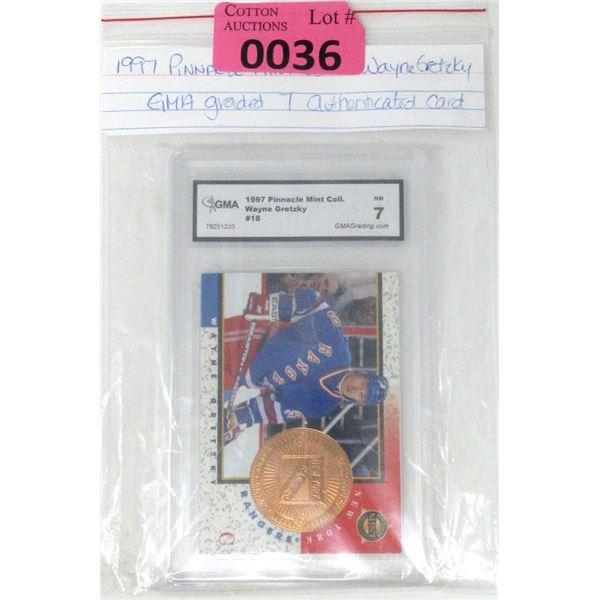 Graded 1997 Wayne Gretzky Pinnacle Mint Card