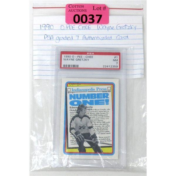Graded 1990 Wayne Gretzky O-Pee-Chee Card