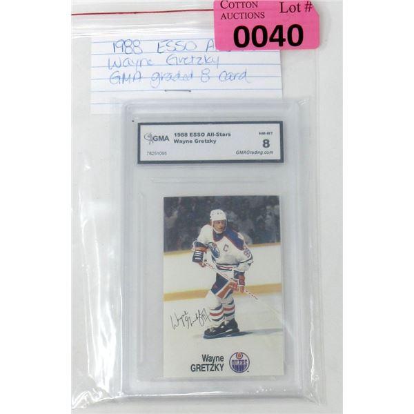 Graded 1988 Wayne Gretzky Esso Hockey Card