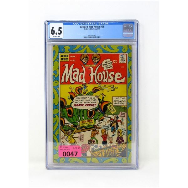 """Graded 1968 """"Archie's Mad House #61"""" Comic"""