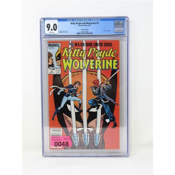 "Graded 1985 ""Kitty Pryde & Wolverine #5"""