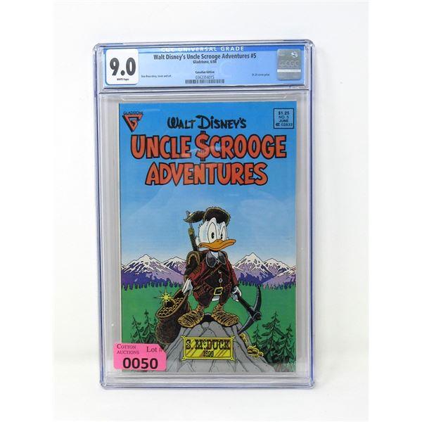 "Graded 1988 ""Uncle Scrooge Adventures"" Comic #5"
