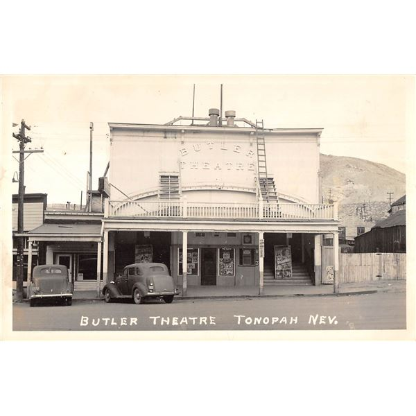 Butler Theatre Tonopah Nevada Real Photo Postcard