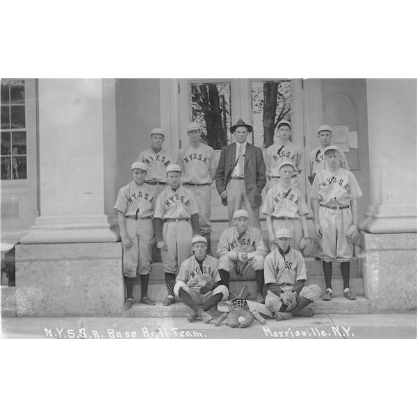Morrisville, New York N.Y.S.S.A. Baseball Team Real Photo Postcards