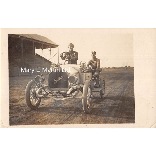 Buick Auto Race Team Fisk Tire Shirt Real Photo Postcard