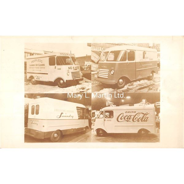 The Kurb-side Advertising Truck Photo 4 View Coco-Cola Truck Postcard