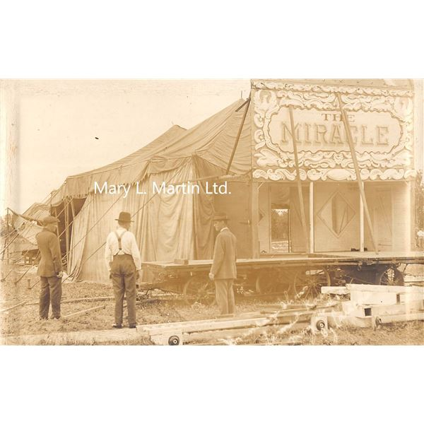Larned, Kansas Brundage Show May 26, 1915 Amusement Disaster Real Photo Postcard