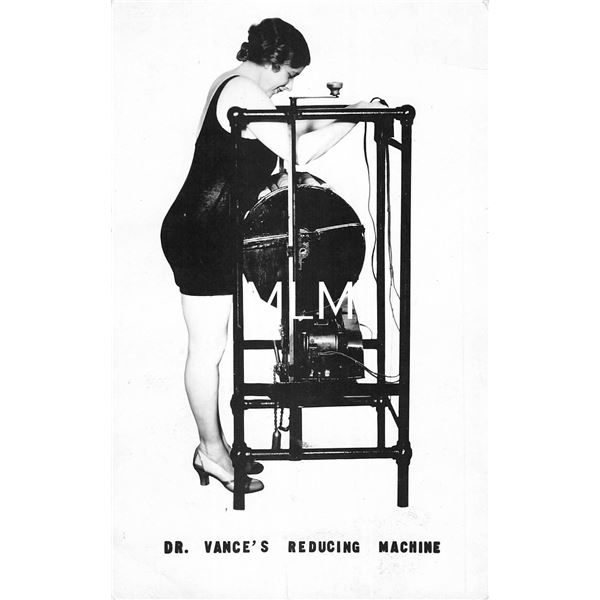 Dr. Vance's Reducing Machine Advertising Ladies Weightloss Real Photo Postcard