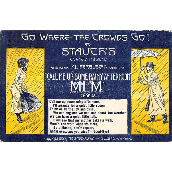 Coney Island, New York Stauer's Advertising Postcard