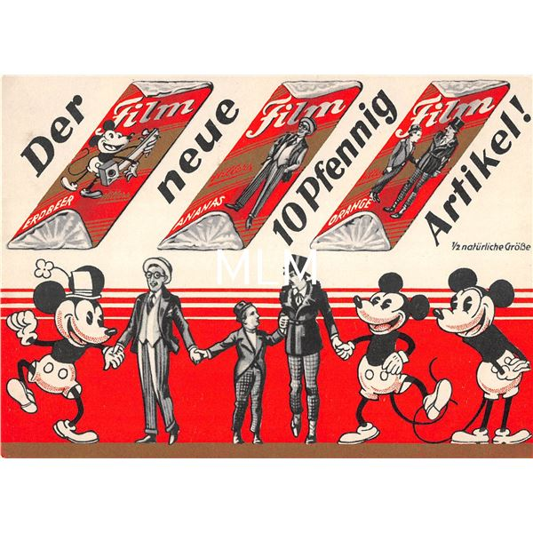 Mickey Mouse German Candy Bar Advertising Postcard