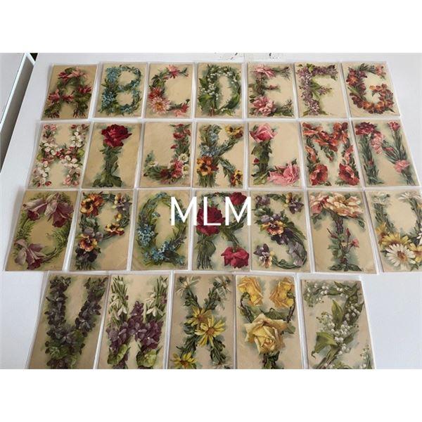 Catherine Klein Alphabet Flower Set A-Z Postcards