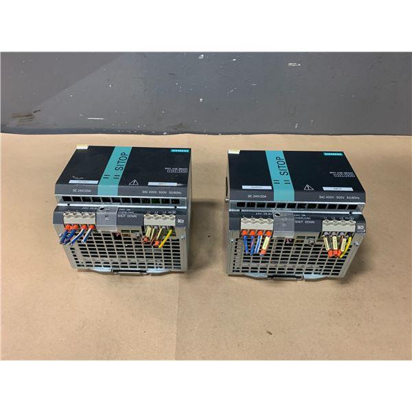 (2) - SIEMENS 6EP1436-3BA00 SITOP POWER 20, POWER SUPPLY