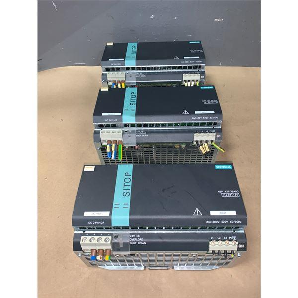(3) - SIEMENS 6EP1437-3BA00 SITOP MODULAR POWER SUPPLY