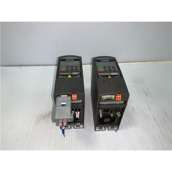 (2) - SIEMENS 6SE6440-2UD15-5AA1 MICROMASTER 440 DRIVES