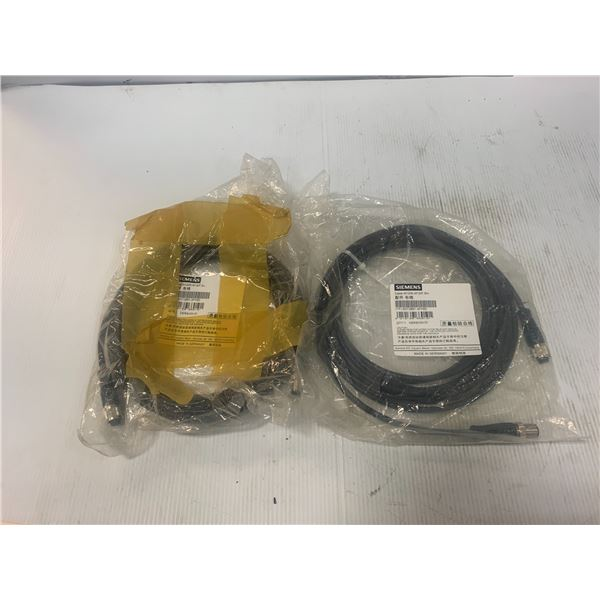 (2) - NEW SIEMENS - 6GT2891-4FH50 CABLE M12/M, M12/F,5m VERSION 01