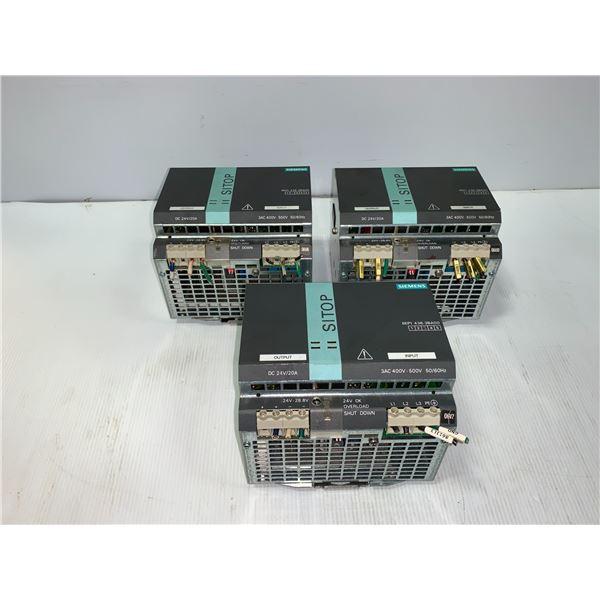 (3) - SIEMENS 6EP1436-3BA00 SITOP POWER 20 POWER SUPPLIES