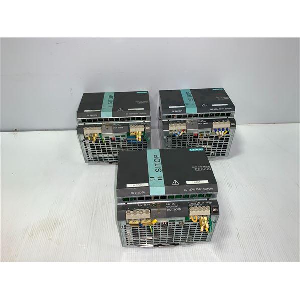 (3) - SIEMENS 6EP1336-3BA00 SITOP MODULAR 20A 1/2 PH POWER SUPPLIES