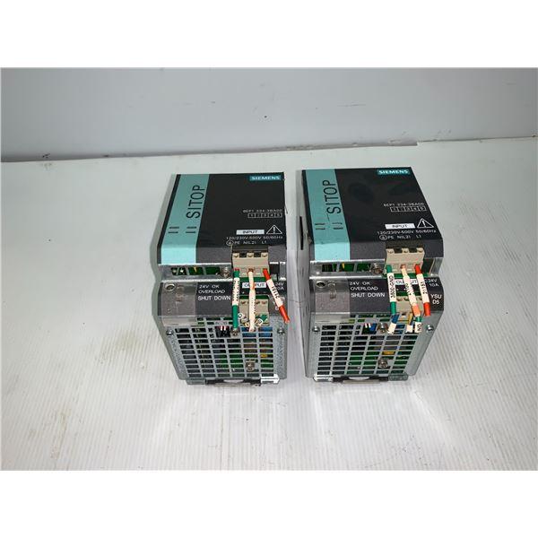 (2) - SIEMENS 6EP1334-3BA00 SITOP MODULAR POWER SUPPLIES