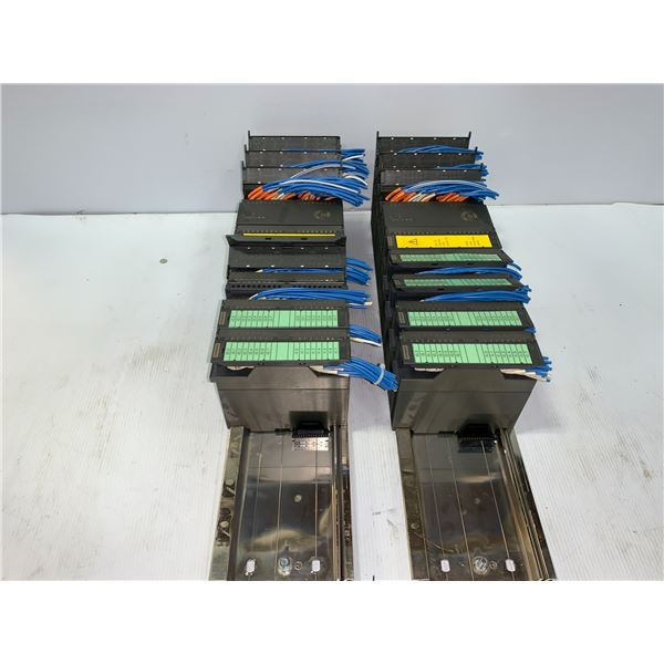 (2) - SIEMENS RACKS WITH MODULES AS PICTURED
