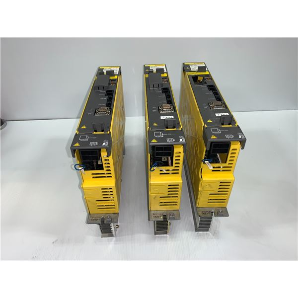 (3) - FANUC A06B-6127-H105 SERVO DRIVES