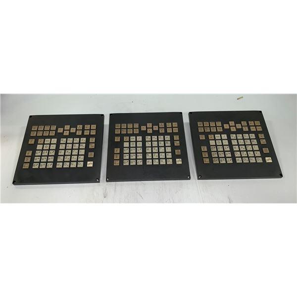 (3) - FANUC A02B-0323-C125#M MDI UNIT KEY PADS