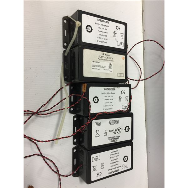 LOT OF (5) GE FANUC IC693ACC302A AUXILIARY BATTERY MODULE