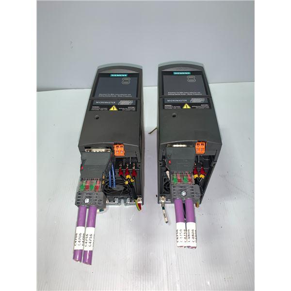 (2) - SIEMENS 6SE6420-2UD15-5AA1 MICROMASTER 420 DRIVES