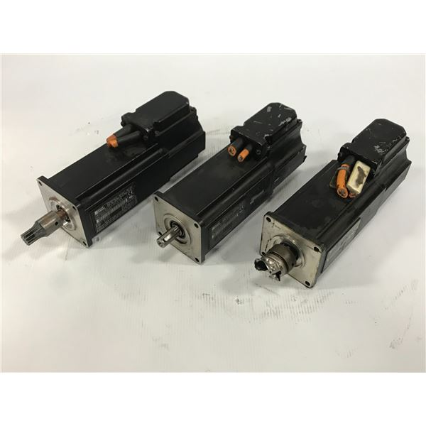 (3) REXROTH INDRAMAT MKD041B-144-KP1-KN PERMANENT MAGNET MOTOR