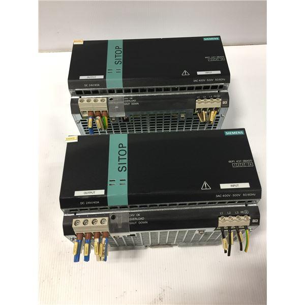 (2) - SIEMENS 6EP1437-3BA00 SITOP POWER 40 POWER SUPPLIES