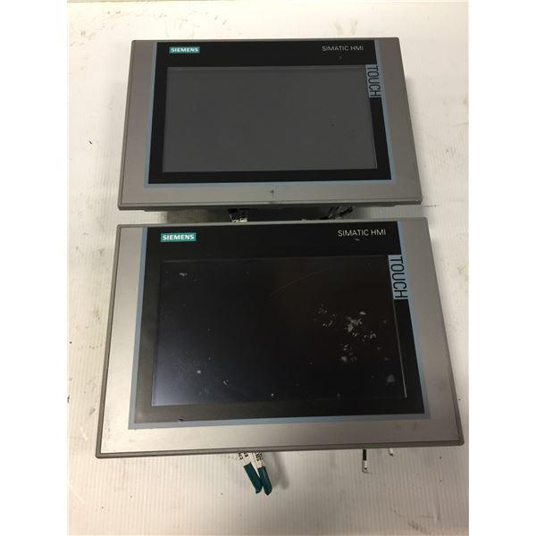 (2) SIEMENS 6AV2 124-0JC01-0AX0 TP900 COMFORT TOUCH SCREEN