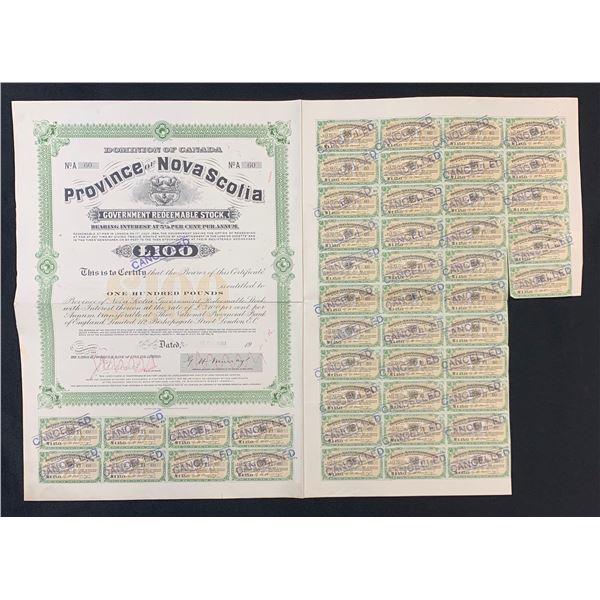 Dominion of Canada, Province of Nova Scotia Stock Certificate