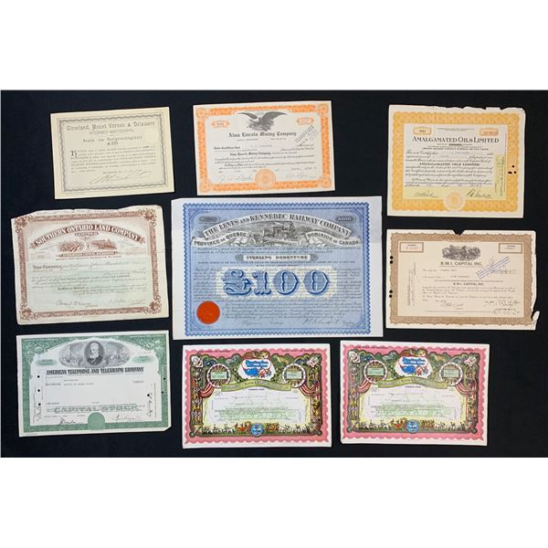Miscellaneous Stock Certificates - Lot of 8