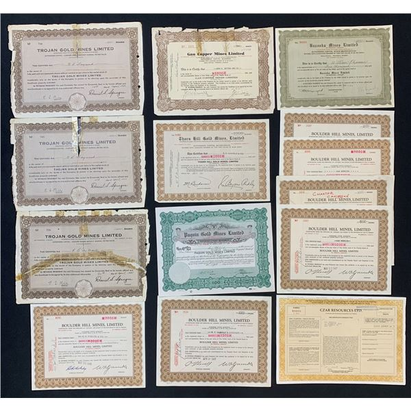 Mining Stock Certificates - Lot of 30