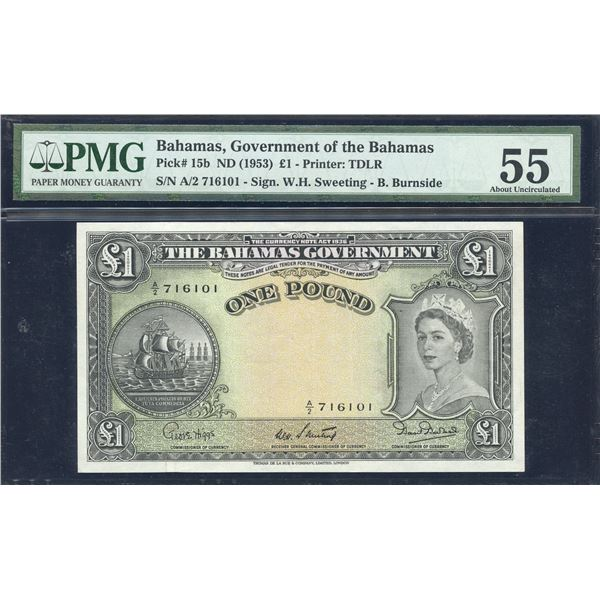 Bahamas - 1953 (ND) Bahamas Government One Pound